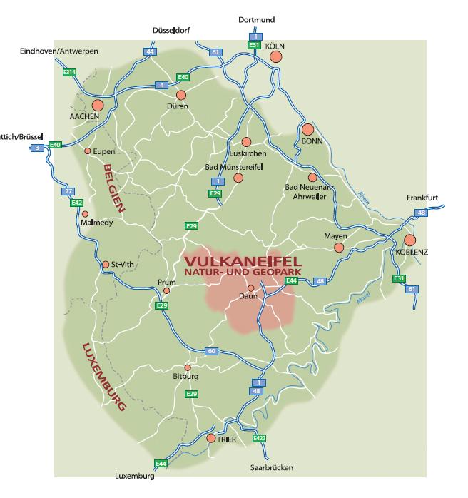 Geopark Vulkaneifel Karte